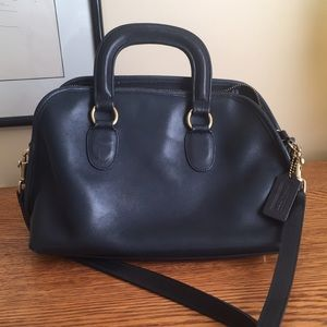 Coach navy Baxter satchel